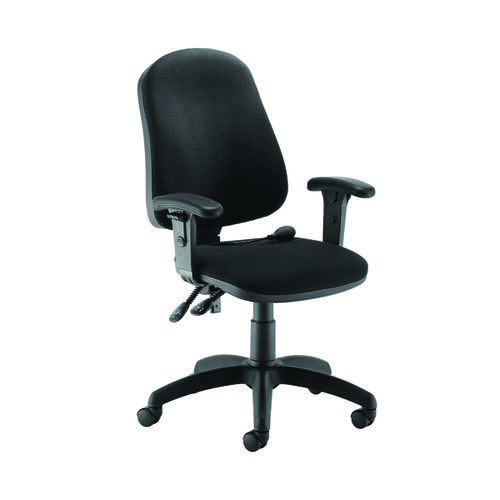 First Calypso Operator Chair with Lumbar Pump Adjustable Arms Black KF822912