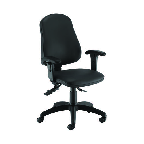 First Calypso Operator Chair with Lumbar Pump Adjustable Arms Polyurethane KF822929