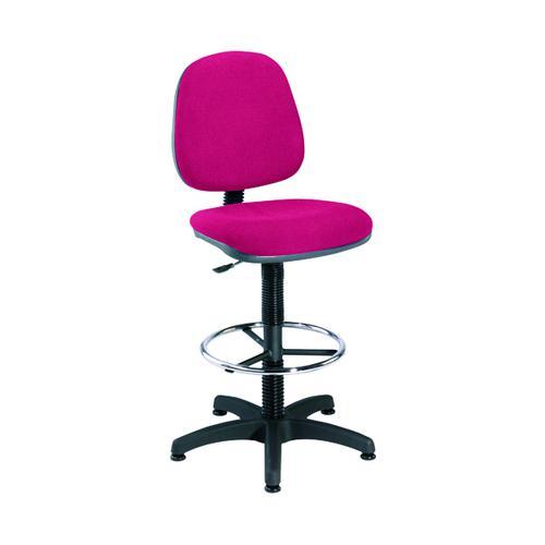 Jemini Medium Back Draughtsman Chair Claret KF838254 by VOW, KF838254