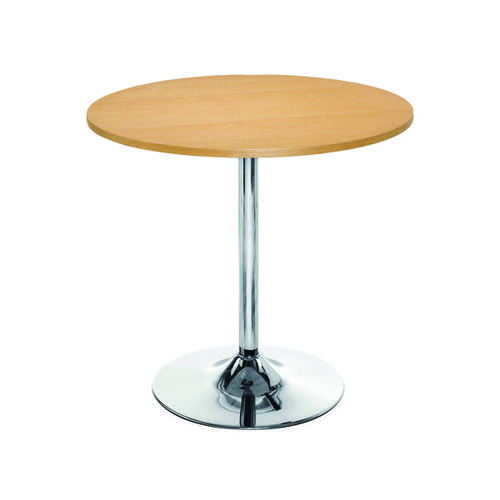 Jemini Beech/Chrome 800mm Small Bistro Trumpet Table KF838282