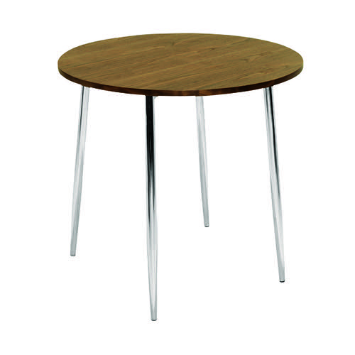 Jemini Walnut/Chrome 800mm Round Bistro Table KF838316