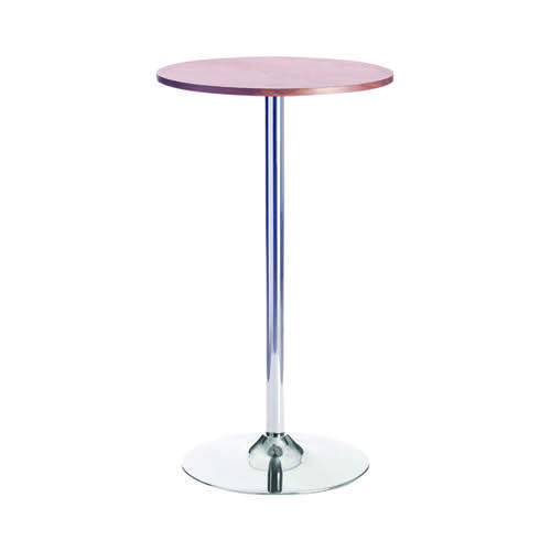 Jemini Walnut/Chrome 600mm Tall Bistro Trumpet Table KF838317