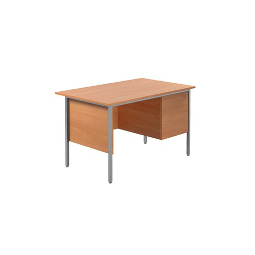 Serrion Bavarian Beech 1200mm Four Leg Desk with Two Drawer Pedestal KF838371