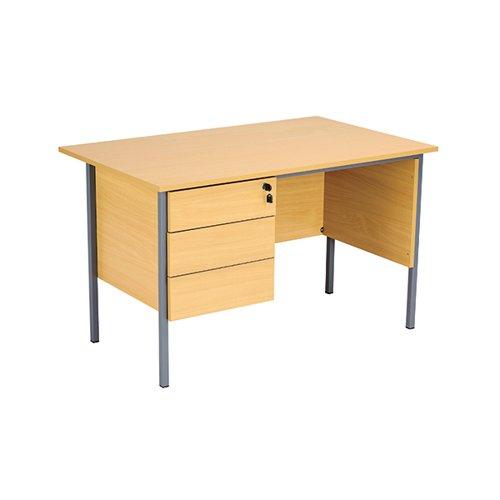 Serrion Ferrera Oak 1200mm Four Leg Desk With Three Drawer