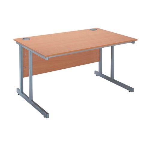 Serrion Bavarian Beech 1200mm Rectangular Cantilever Desk KF838514