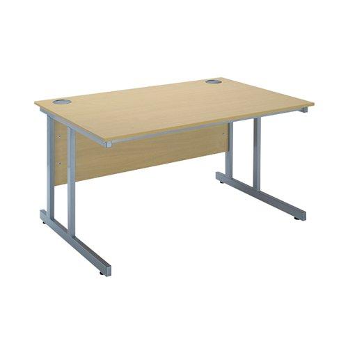 Serrion Ferrera Oak 1200mm Rectangular Cantilever Desk KF838515