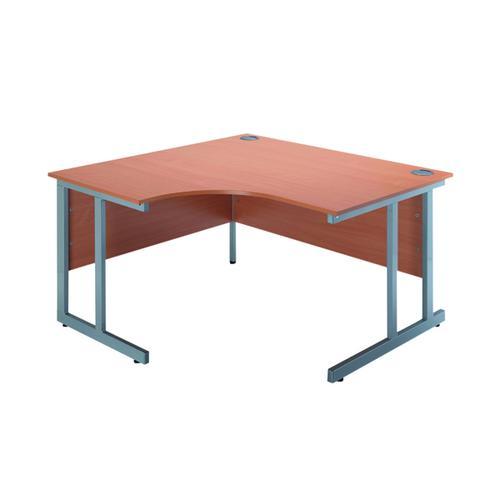 Serrion Bavarian Beech 1200mm Radial Left Hand Cantilever Desk KF838520