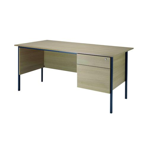 Serrion Warm Maple 1500mm 4 Leg Desk With 2 Drawer