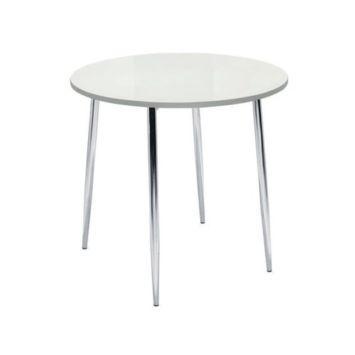 Jemini White/Chrome 800mm Round Bistro Table KF838543