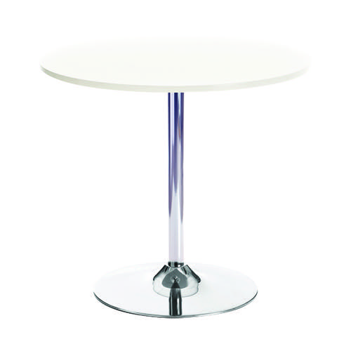 Jemini White/Chrome 800mm Small Bistro Trumpet Table KF838544