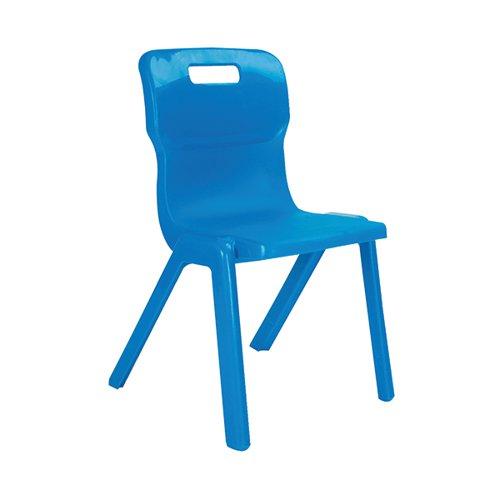 Titan One Piece Classroom Chair 480x486x799mm Blue (Pack of 10) KF838700