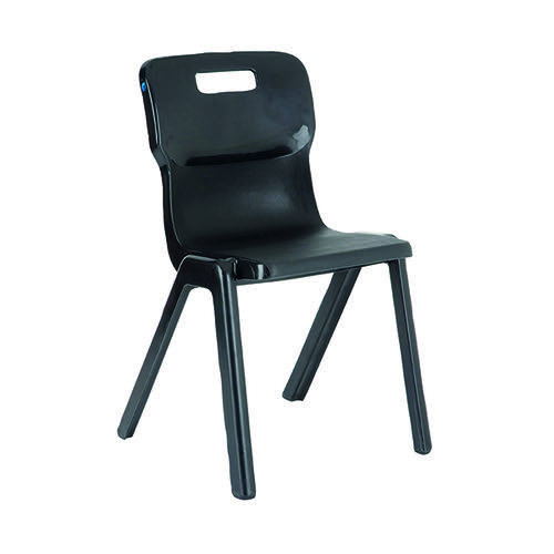 Titan One Piece Classroom Chair 480x486x799mm Charcoal (Pack of 10) KF838702
