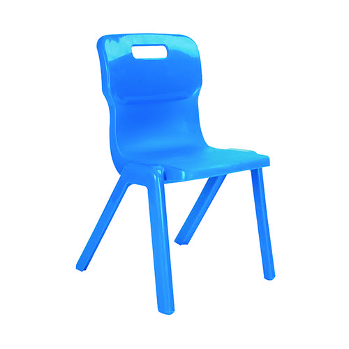 Titan One Piece Chair 310mm Blue (Pack of 10) KF838705