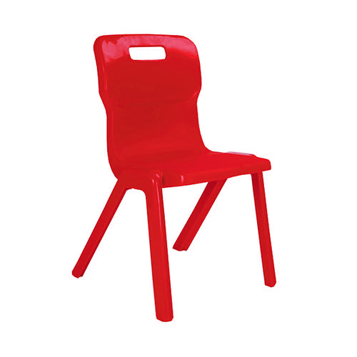 Titan One Piece Chair 460mm Red (Pack of 10) KF838718