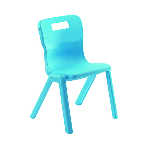 Titan One Piece Chair 460mm Blue (Pack of 30) KF838744