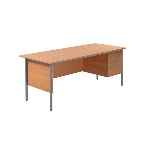 Serrion Bavarian Beech 1800mm 4 Leg Desk With 2 Drawer