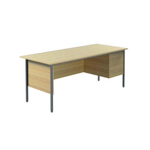Serrion Rectangular 3 Drawer Pedestal Desk 1800x750x730mm Oak KF838811