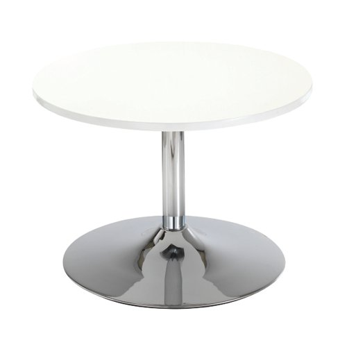 Jemini White 800mm Low Bistro Table with Trumpet Base KF838812