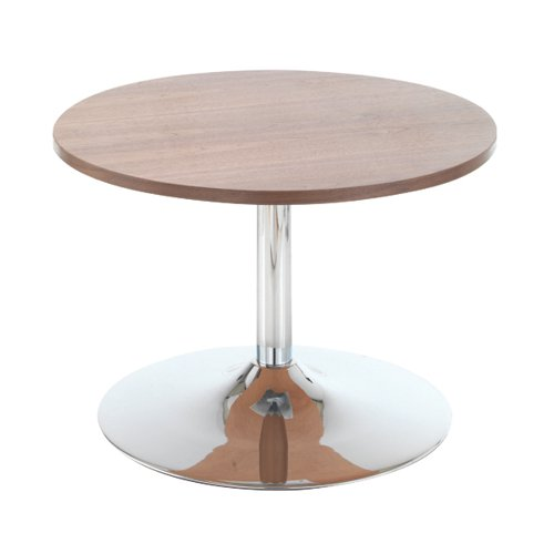 Jemini Walnut 800mm Low Bistro Table with Trumpet Base KF838814