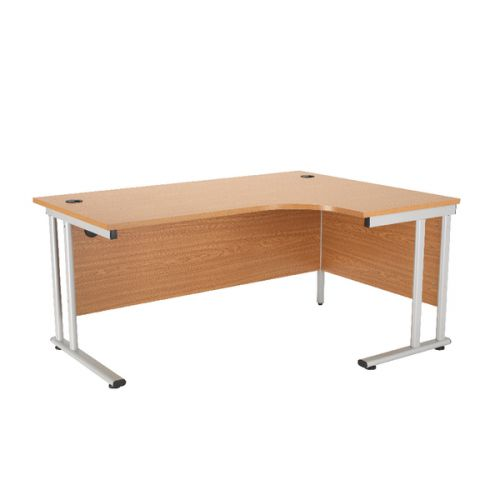 First Radial Right Hand Cantilever Desk 1600mm Oak KF838942