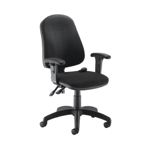 Jemini Intro Posture Chairs with Arms Charcoal KF838994