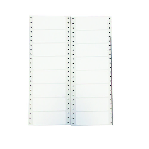 Q-Connect Computer Label 89x36mm 1 Across The Web 8 Per Fanfold White (Pack of 8000) KF89361