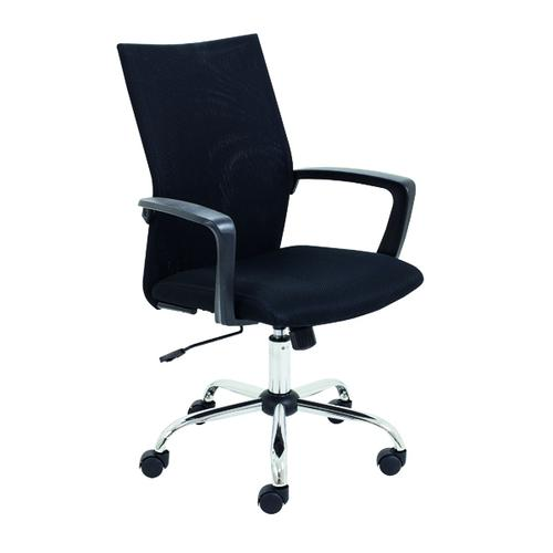 Jemini One Task Mesh Chair with Fixed Arms Black KF90000
