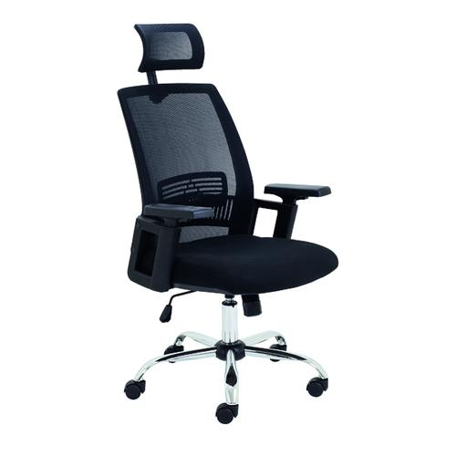Jemini One Task Mesh Chair with Headrest and Arms Black CH3310BK