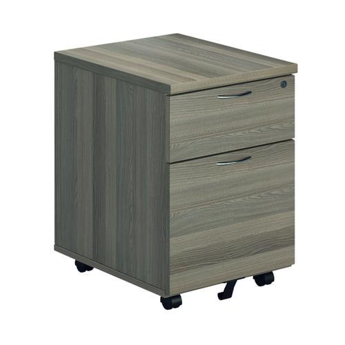 First Mobile Pedestal 2 Drawer Grey Oak FRTESMP2GO