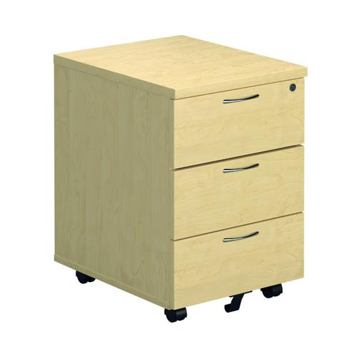First Mobile Pedestal 3 Drawer Maple FRTESMP3MA