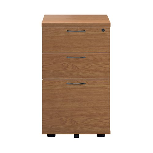 First Tall Under Desk Pedestal 3 Drawer Nova Oak KF90260