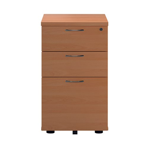 First Tall Under Desk Pedestal 3 Drawer Beech TESUDP3BE2