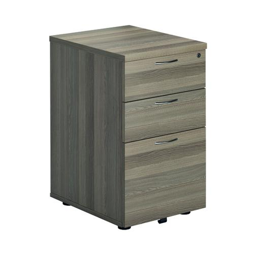 First Under Desk Pedestal 3 Drawer Grey Oak FRTESUDP3GO