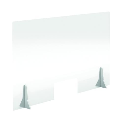 Jemini Free Standing Acrylic Screen 1000x600x4mm Clear COVFS1060CL