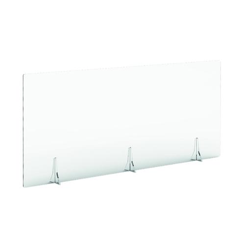 Jemini Free Standing Acrylic Screen 1600x700x4mm Clear COVFS1670CL