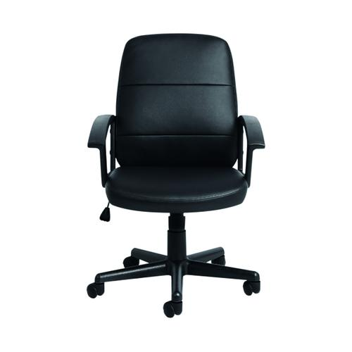 Gomez Black Leather Look Chair KF90354