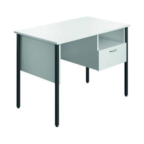 Eco 18 Homework Desk Four Leg White ECS1000FLWH