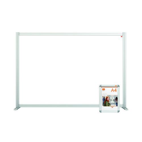Nobo Acrylic Modular Desk Divider 1400 x 1000mm Clear KF90372