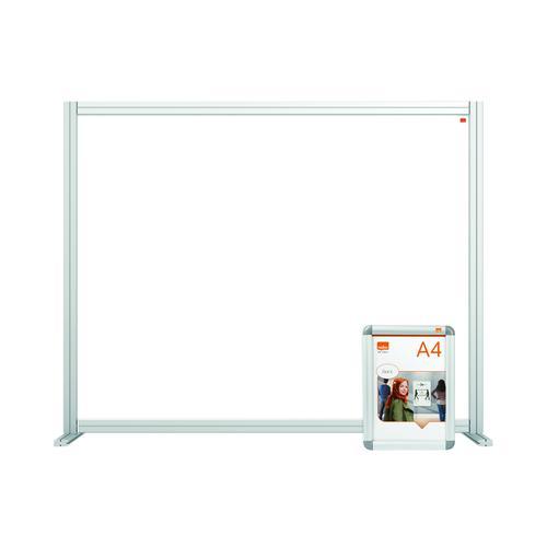 Nobo Modular Desk Divider Screen Acrylic 1200x50x50mm Clear KF90373