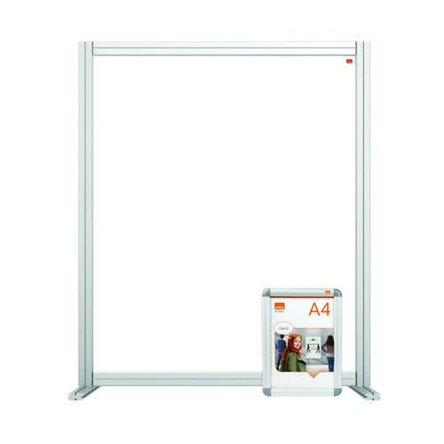 Nobo Acrylic Modular Desk Divider 800 x 1000mm Clear KF90374