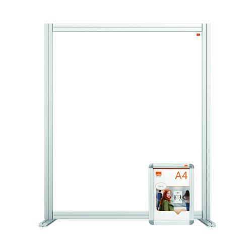 Nobo Modular Desk Divider Screen Acrylic 800x50x1000mm Clear KF90374