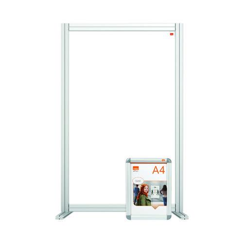Nobo Acrylic Modular Desk Divider 600 x 1000mm Clear KF90375