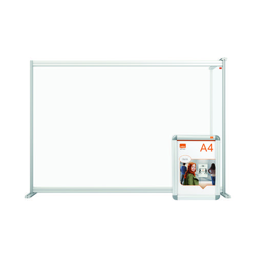 Nobo Acrylic Modular DeskDivider Extension 1400x1000mm Clear KF90377