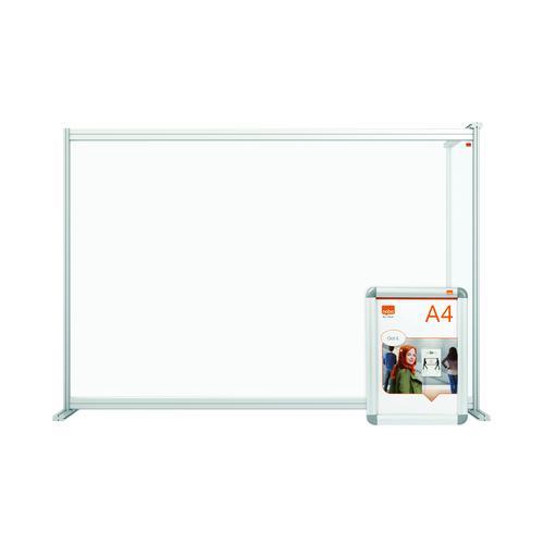 Nobo Modular Desk Divider Extension Acrylic 1400x50x1000mm Clear KF90377