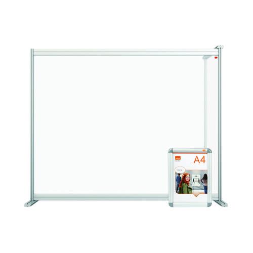 Nobo Acrylic Modular DeskDivider Extension 1200x1000mm Clear KF90378 KF90378
