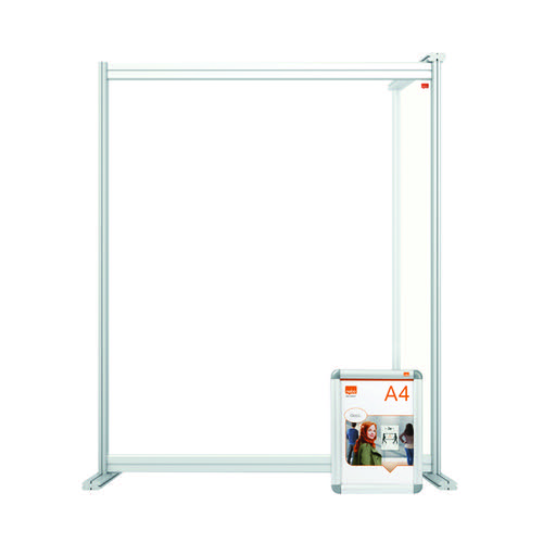 Jemini Acrylic Modular Desk Divider Extension 800x1000mm Clear KF90380