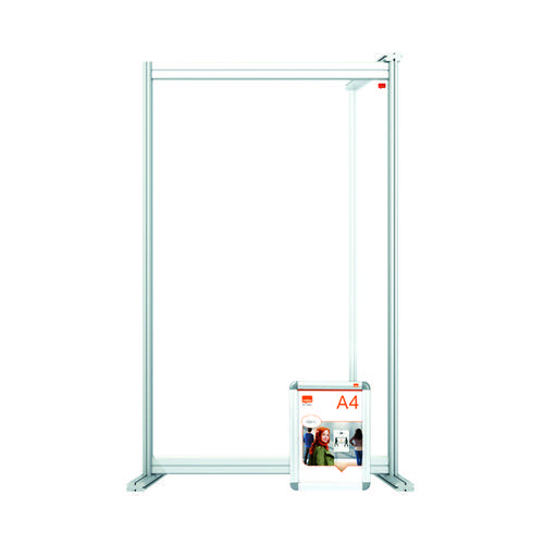 Jemini Acrylic Modular Desk Divider Extension 600x1000mm Clear KF90381