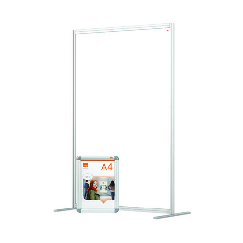 Nobo Acrylic Modular Room Divider 1200 x 1800mm Clear KF90382