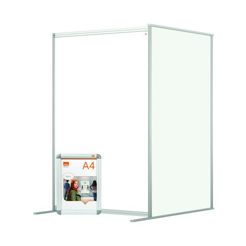 Nobo Modular Free Standing Room Divider Extension Acrylic 1200x50x1800mm Clear KF90385