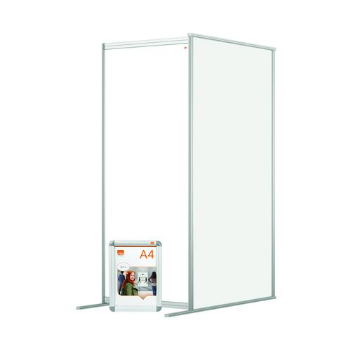 Nobo Modular Free Standing Room Divider Acrylic Extension 800x50x1800mm Clear KF90386
